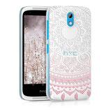 Crystal Case Hülle HTC Desire 526G Sonne Rosa