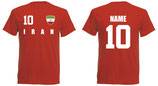 Iran WM 2018 T-Shirt Name/Druck Rot