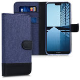 Wallet Case Huawei P20 Lite Canvas Dunkelblau