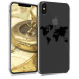 TPU Case Hülle Apple iPhone XS Max Weltkarte