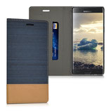 Bookstyle Hülle Samsung Galaxy Note 7 Dunkelblau Braun