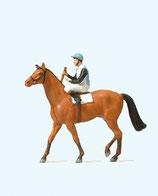 Preiser 29080 Jockei auf Pferd H0