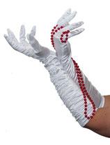 Lange weisse Handschuhe edel Deluxe