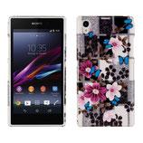 Hard Case Sony Xperia Z1 Blumen Schmetterling