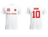 Polen WM 2018 T-Shirt Kinder Weiss