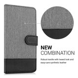 Wallet Case Canvas Hülle LG G5 Grau