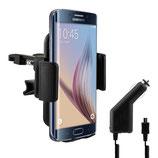 Lüftungshalterung für Samsung Galaxy S6 Edge + Ladegerät
