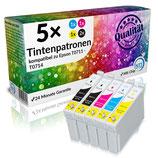 5x Tintenpatronen Epson T0711 - T0714