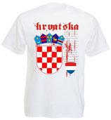 Kroatien T-Shirt Nationalhymne EM 2016