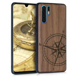 Holz Case Hülle Huawei P30 Pro Kompass