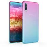 TPU Case Hülle Samsung Galaxy A50 Pink/Blau