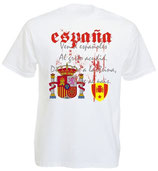 Spanien T-Shirt Nationalhymne EM 2016