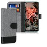 Wallet Case Huawei P40 Lite Canvas Grau