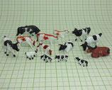 14 Tiere für den Bauernhof Kühe Spur H0