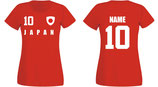 Japan WM 2018 T-Shirt Damen Rot