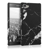 Hardcase Sony Xperia Z5 Compact Marmor Schwarz Weiss