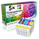 5x Tintenpatronen Epson T1811 - T1814