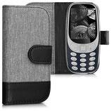 Wallet Case Nokia 3310 (2017) Canvas Grau