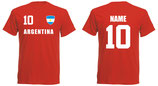 Argentinien WM 2018 T-Shirt Kinder Rot