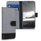 Wallet Case Samsung Galaxy A50 Canvas Grau-Schwarz