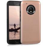 TPU Case Motorola Moto G5 Plus Rosegold