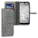 Wallet Case Hülle Nokia 4.2 Blumen Zwillinge Grau