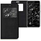 Flip Case Huawei P10 Lite Fenster Schwarz