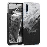 TPU Case Samsung Galaxy A50 Schwarz Weiss