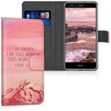 Wallet Case Hülle Huawei P10 Lite Be Happy