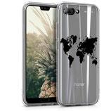 TPU Case Cover Huawei Honor 10 Weltkarte