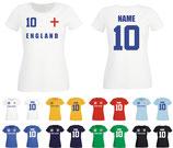 England WM 2018 T-Shirt Damen Weiss