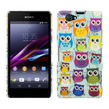 Hard Case Eulen Bunt Sony Xperia Z1 Compact