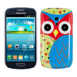 Hard Case Samsung Galaxy S3 Mini Eule Bunt