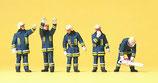Preiser 10486 Feuerwehrmänner in moderner Einsatzkleidung H0