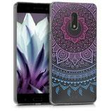 TPU Case Hülle Nokia 6 Sonne Pink Blau