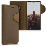 Wallet Case Samsung Galaxy Note 10 Plus Echtleder Braun