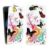 Ledertasche Sony Xperia Z1 Compact Schmetterling