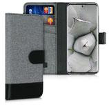 Wallet Case Samsung Galaxy S20 Canvas Grau-Schwarz