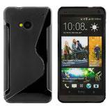 CASE FÜR HTC ONE M7 SILIKON HÜLLE BLACK