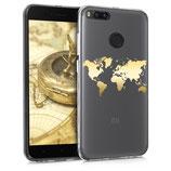 TPU Case Xiaomi Mi 5X / Mi A1 Weltkarte