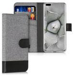 Wallet Case Huawei P40 Pro Canvas Grau-Schwarz