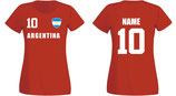 Argentinien WM 2018 T-Shirt Damen Rot