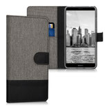 Wallet Case Huawei Mate 9 Canvas Grau