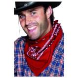 Rotes Cowboyhalstuch Cowboy Halstuch rot