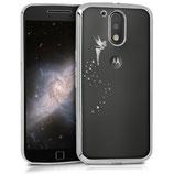 TPU Case Motorola Moto G4 G4 Plus Fee Silber