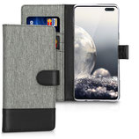 Wallet Case Samsung Galaxy S10 5G Canvas Grau-Schwarz