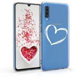 TPU Case Hülle Samsung Galaxy A70 Herz