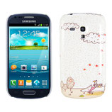 Hard Case Samsung Galaxy S3 Mini Comic Weiss