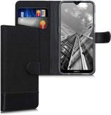 Wallet Case Hülle Nokia 2.3 Canvas Schwarz