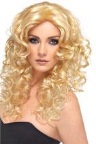 Perücke Blond Locken blonde Perrücke